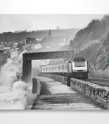 HST On Stormy Dawlish Sea Wall