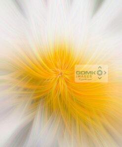 Conceptual white and yellow conceptual digital art