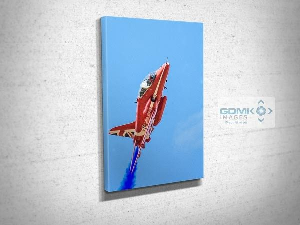 Up Close to A Red Arrow Canvas Print