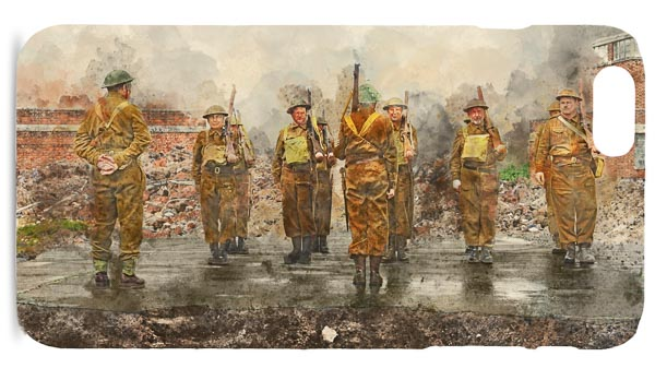 Home Guard on Parade Mobile Phone Case