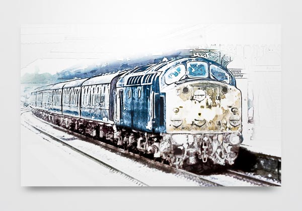 Class 40 in the Snow Wall Art Picture