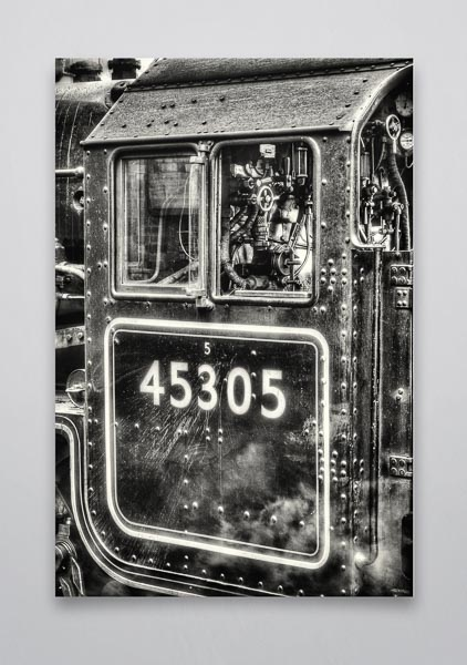 Black and White Black 5 45305 Cab Wall Art Print