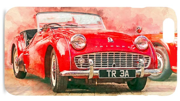 Triumph TR3a Digital Art Painting Mobile Phone Case