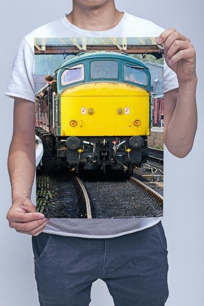 Man Holding Class 45 45041 Front Wall Art Print