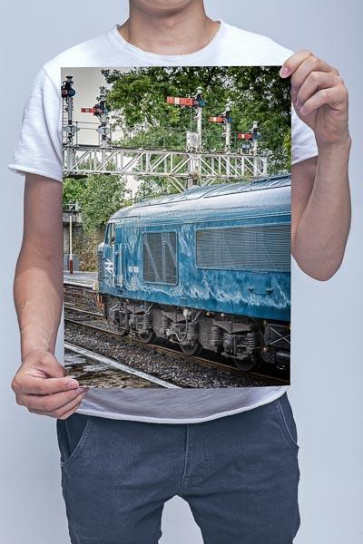 Man Holding Class 45 45108 at Bury Wall Art Print
