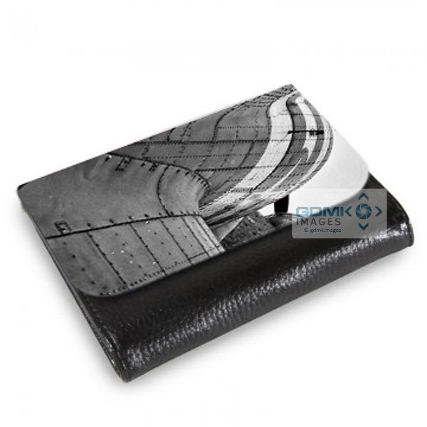 Medium Wallet Abstract Black and White C-47