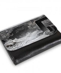 Medium Wallet Waves crashing against sea wall at Dawlish