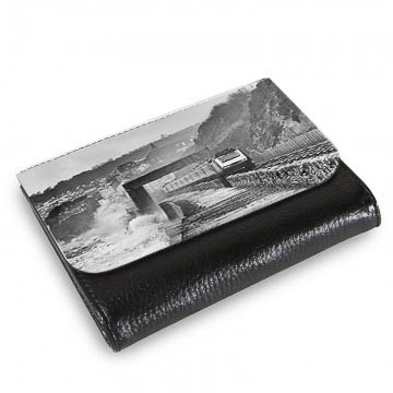 HST On Stormy Dawlish Sea Wall Large Wallet