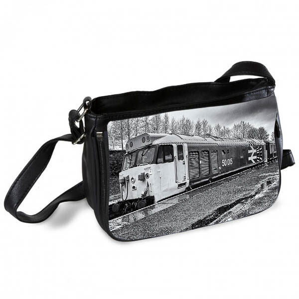 Black and White Class 50 50015 at Bury Messenger Bag Messenger Bag