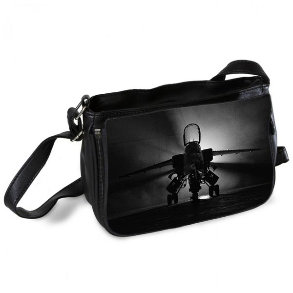 Black and White RAF Jaguar Messenger Bag