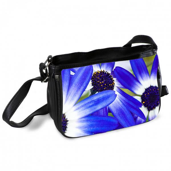Blue African Daisy Messenger Bag