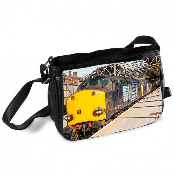 DRS Class 37 locos at Crewe Station Messenger Bag
