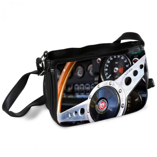 Classic Jaguar Steering Wheel Messenger Bag