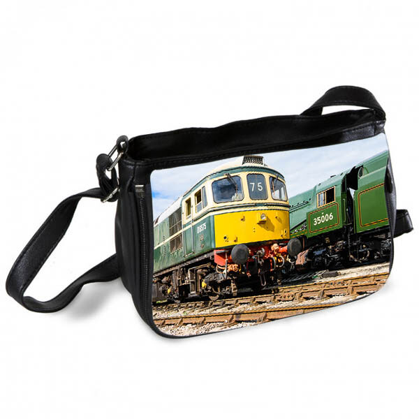 Southern Region Shed mates Class 33 D6575 and 35006 Messenger Bag