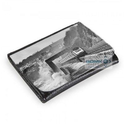 HST on stormy Dawlish Sea Wall wallets and purses