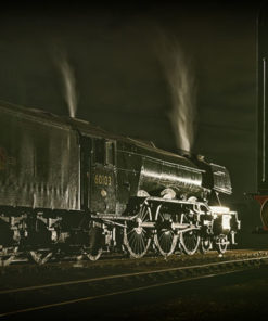 60103 Flying Scotsman gently steaming away at night
