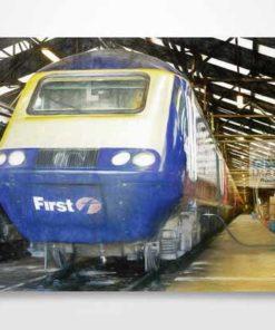 Digital Painting of First Great Western Class 43 HST Wall Art Print