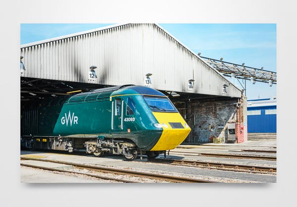GWR Class 43 HST 43093 at Old Oak Common Wall Art Print