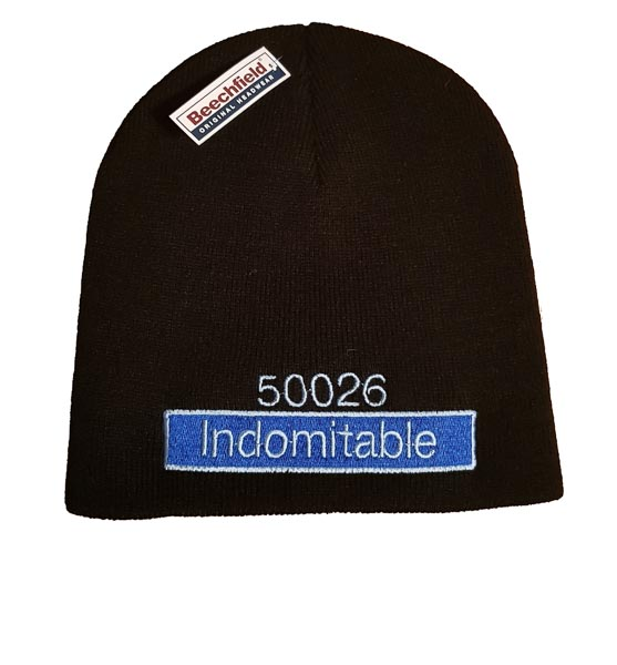 50026 Indomitable Nameplate and Number Beanie Hat