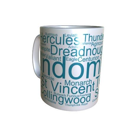 50026 Indomitable Word Art Mug