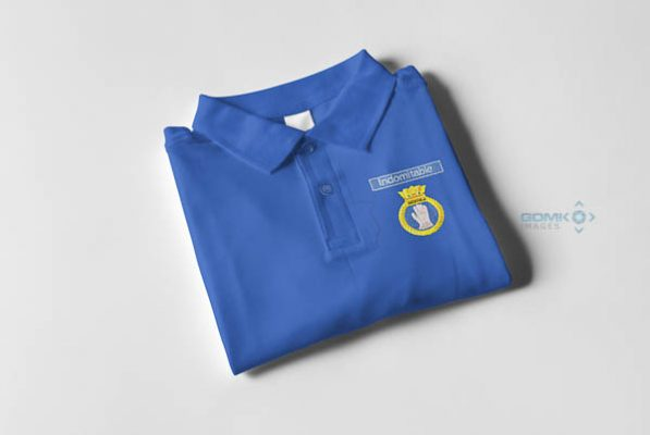 50026 Indomitable Nameplate and Crest Polo Shirt