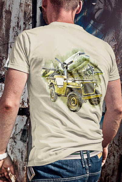Jeep and Dakota Tshirt back