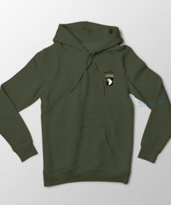 101st Airborne Nuts Hoodie Military Green