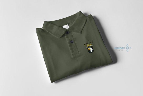 101st Airborne NUTS Polo Shirt Khaki