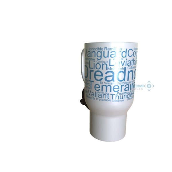 50001 Dreadnought Word Art Travel Mug
