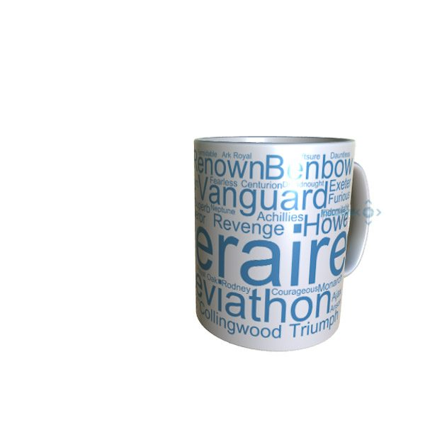50003 Temeraire Word Art Mug