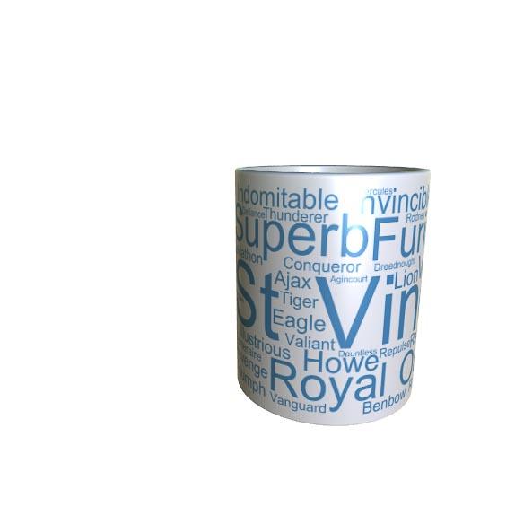 50004 st Vincent Word Art Mug