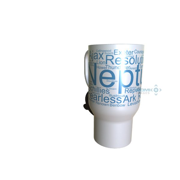 50006 Neptune Word Art Travel Mug