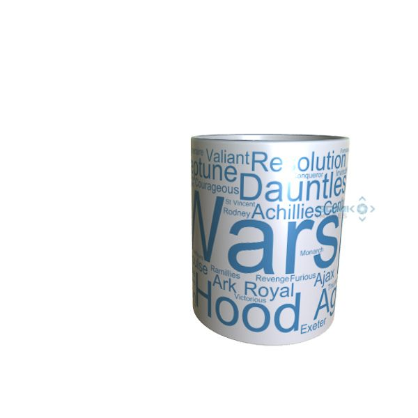 50014 Warspite Word Art Mug