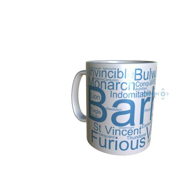 50016 Barham Word Art Mug