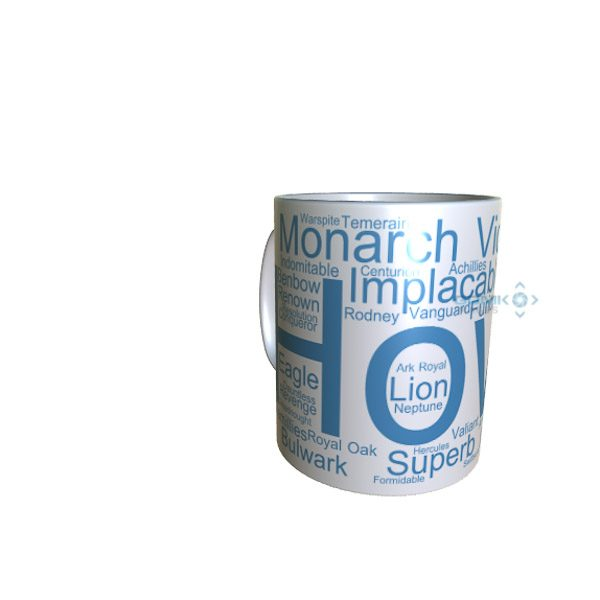 50023 Howe Word Art Mug