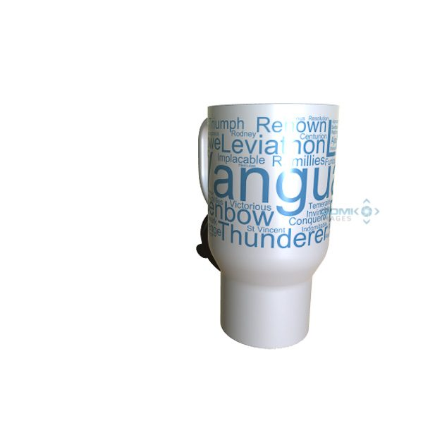 50024 Vanguard Word Art Travel Mug