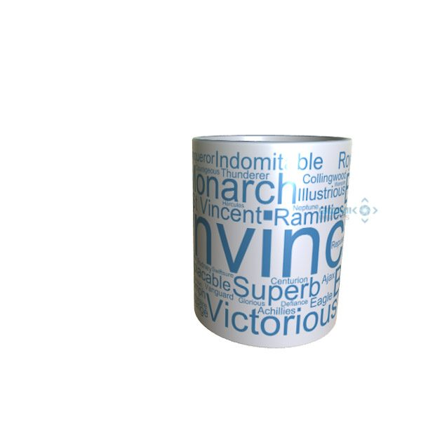 50025 Invincible Word Art Mug