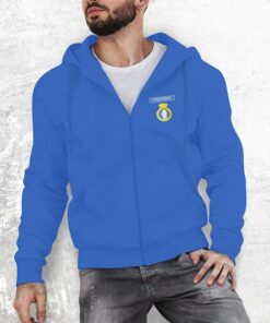 50026 Indomitable Zipped Hoodie Royal Blue 1
