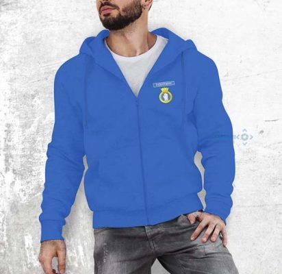 50026 Indomitable Zipped Hoodie Royal Blue 1