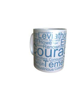 50032 Courageous Word Art Mug
