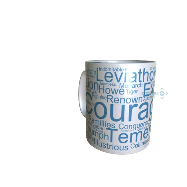 50032 Courageous Word Art Mug