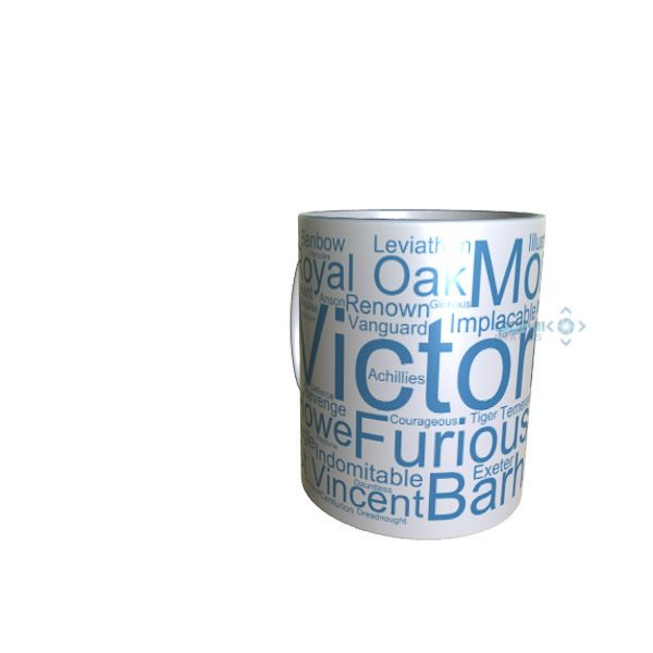 50036 Victorious Word Art Mug