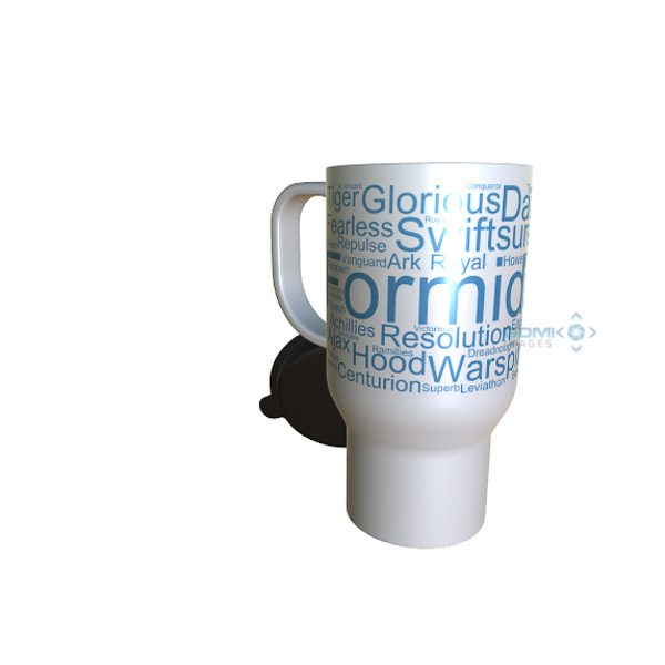 50038 Formidable Word Art Travel Mug