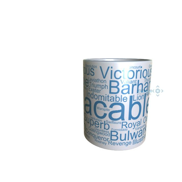 50039 Implacable Word Art Mug