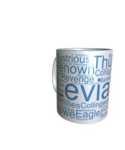 50040 Leviation Word Art Mug