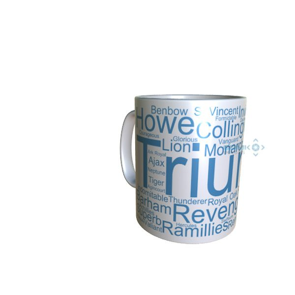 50042 Triumph Word Art Mug