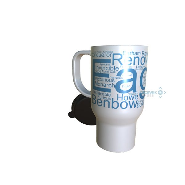 50043 Eagle Word Art Travel Mug
