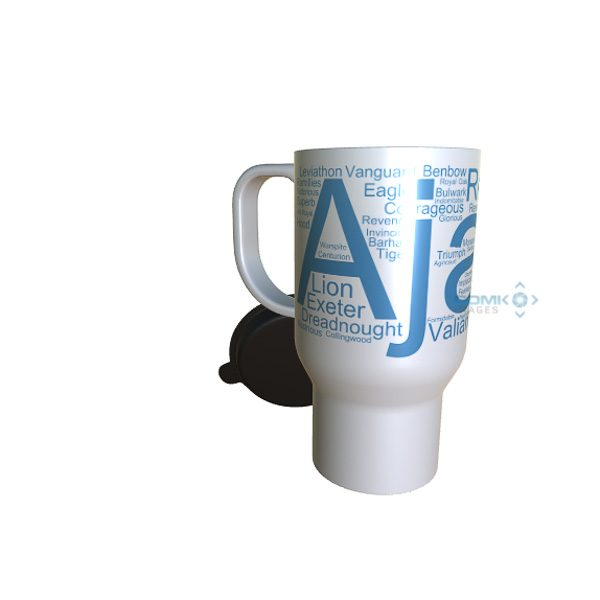 50046 Ajax Word Art Travel Mug
