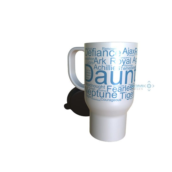 50048 Dauntless Word Art Travel Mug