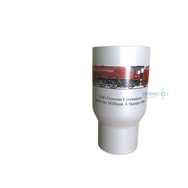 LMS Princess Coronation 46256 Sir William A Stanier FRS Travel mug